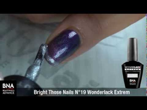 Nail art Mix & Match en vernis UV permanents Wonderlack Extrem