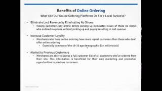 Benefits of Online Ordering
