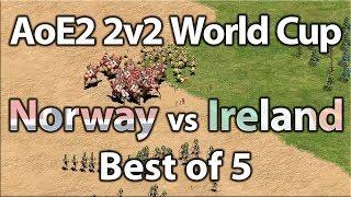 AoE2 2v2 World Cup | Norway vs Ireland!