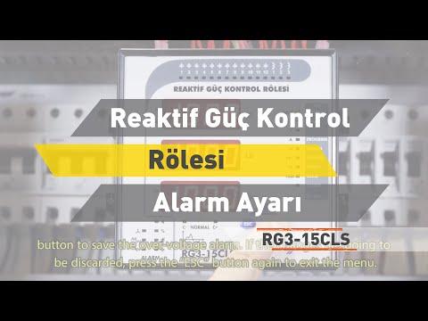 RG3 - 15 CLS Reaktif Güç Kontrol Rölesi - Alarm Ayarı