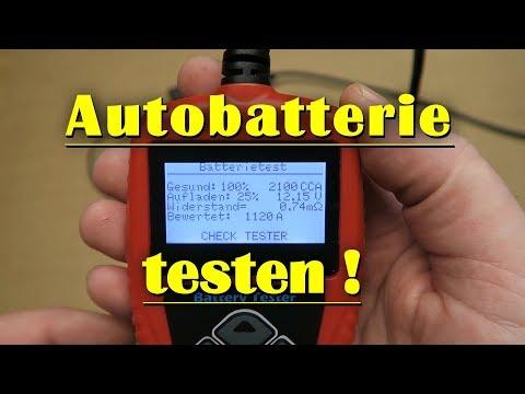 Autobatterie testen + Batterietester selber bauen