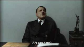 "Hitler is asked ""Are you here?"""