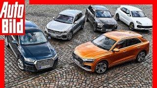 SUVs aus dem VW-Konzern (2018) Luxus-SUVs im Vergleich