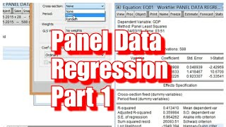 Panel Data Regression in Eviews