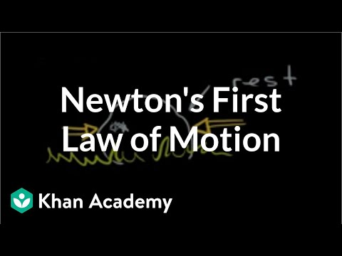 More on Newton's first law of motion | Physics | Khan Academy