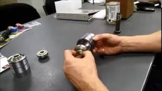 """How to install bearing in Dura-Belt's 2 5"""" Poly-v endcap"""