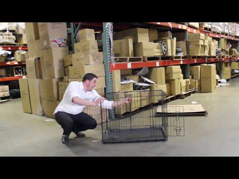 How to Setup a Dog Crate with Double-Doors - Cage w/Divider  - Live by Tv Host Bill Confidence