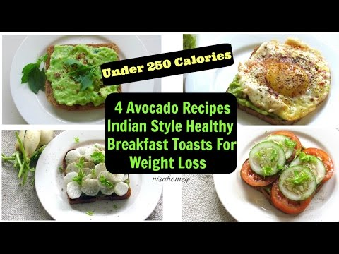Video Avocado Breakfast Toast - 4 Healthy Fat Burning Breakfast Ideas For Weight Loss - Avocado Recipes
