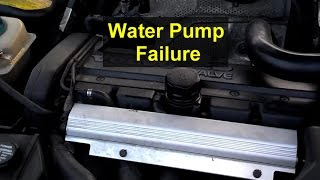 Coolant roulette, water pump leak while on a road trip.