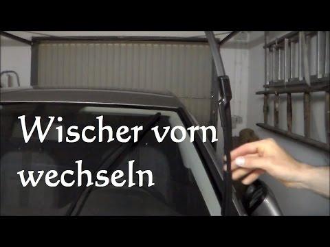 Scheibenwischer vorn wechseln beim VW Golf 7 wechseln Aerowischer Auto tauschen