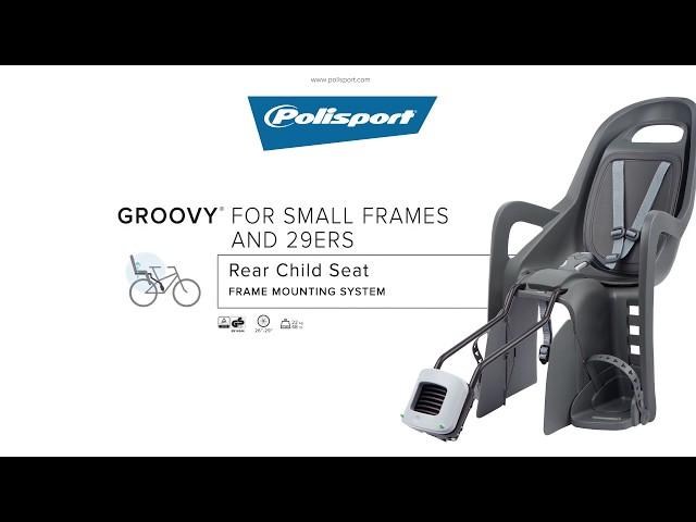 Видео Детское велокресло Polisport Groovy Maxi FF 29 Black/Dark Grey