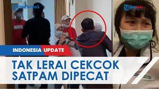 Hanya Berdiri, Hanya Nonton saat Perawat Dianiaya JT, Satpam RS Siloam Palembang Kini Dipecat