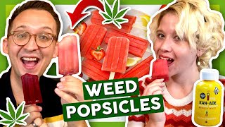 HOW TO MAKE WEED POPSICLES 😝 by That High Couple