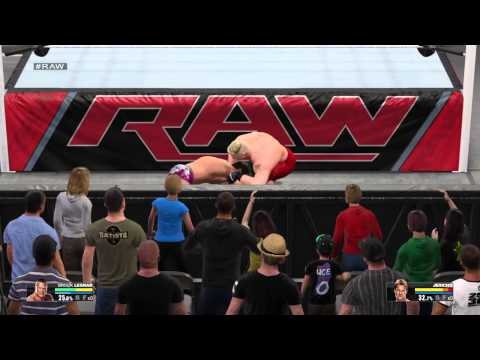WWE 2K15 Brock Lesnar vs. Chris Jericho Extreme Rules Match RAW Week 6
