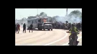 WATCH: Truck With Trailer Drives Through Protest On I-244 In Tulsa