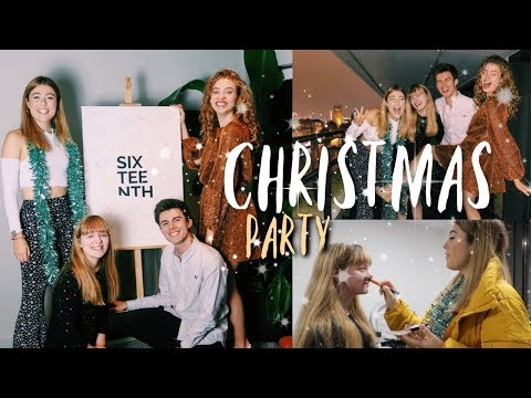 YouTube Christmas Party / Get Ready With Us || Vlogmas Day 4