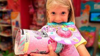 ЧТО ЗА ЛОЛ КУПИЛА Милана?? КРУТЫЕ игрушки КОТОРЫХ НЕТ в МОСКВЕ распаковка!!