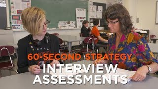 60-Second Strategy: Interview Assessments