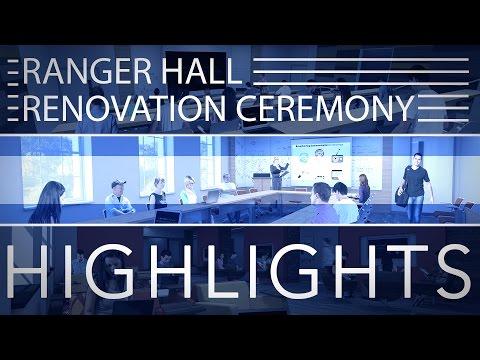 Event: Ranger Hall Renovation Ceremony Highlights