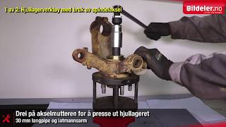 "Audi, Ford, Mazda, Skoda, Volvo, VW: Hvordan Bytte Hjullager Foran, ""Generasjon 2"""