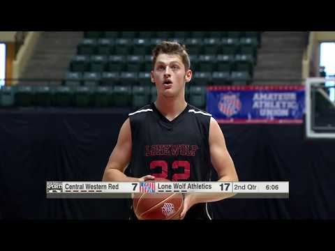 2017 17U DII AAU Boys Basketball Nationals - Lone Wolf Athletics vs. Central Western Red