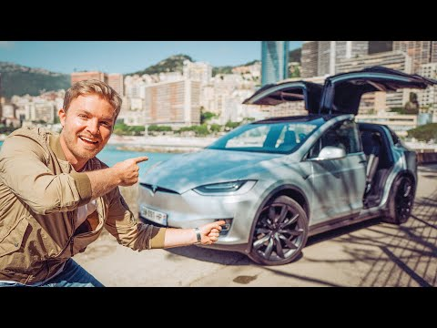 Image: Watch Rosberg test the new Tesla Model X