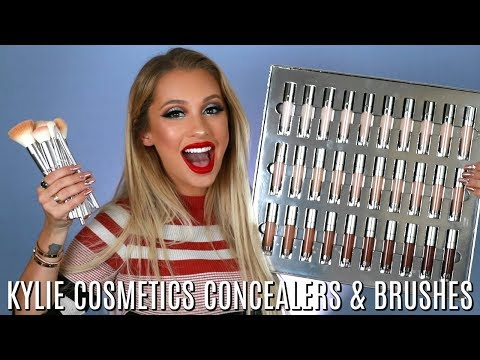 KYLIE COSMETICS CONCEALERS + BRUSHES REVIEW
