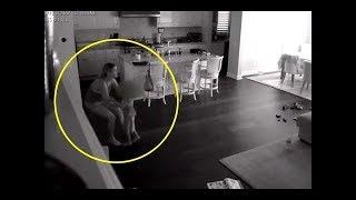 Bebek Bakıcısı Üst Kattan Ses Duyar, Baba Gizli Kameradan Kontrol Eder ve Mutfaktaki Kabusu Yakalar