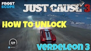 Just Cause 3 Verdeleon 3 : How to Unlock! (Location) FASTEST CAR IN GAME!