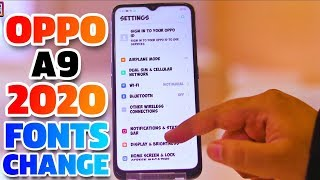 Oppo A9 2020 Fonts Change | Change Fonts In Oppo A9 2020