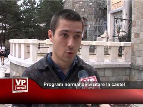 Program normal de vizitare la castel