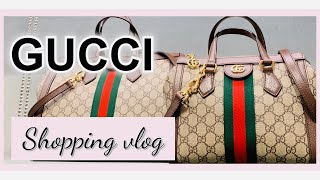 GUCCI LUXURY SHOPPING VLOG * GUCCI HANDBAGS Store Walk Through