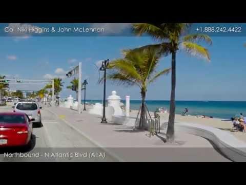 Video Driving Tour of Fort Lauderdale Beach Florida, Seaside Properties Group at Douglas Elliman