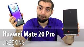 Huawei Mate 20 Pro Unboxing în Limba Română (Telefon cu camera triplă, scanner de amprente in ecran)