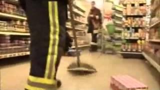 Giftspinne im Supermarkt