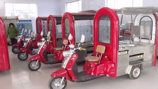 ELECTRIC FOOD CARTS # CARTS MANUFACTURER IN DELHI# SAI STRUCTURES INDIA/ E-FOOD CARTS ON E-RICKSHAW#