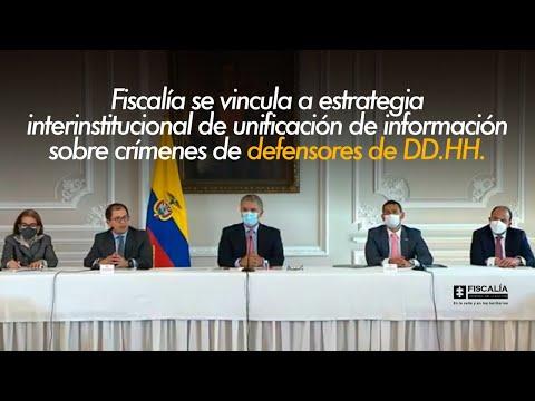 Fiscal Francisco Barbosa: Fiscalía fortalece estrategias de protección a líderes sociales