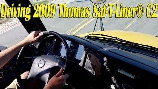 Driving 2009 Thomas Saf-T-Liner® C2 with Mercedes-Benz OM926LA Engine [BUS #0803]