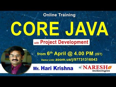 Core Java Online Training Day-1 | by Mr. Hari Krishna - YouTube
