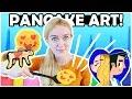 PANCAKE ART CHALLENGE!  - Girlfriend VS Boyfriend