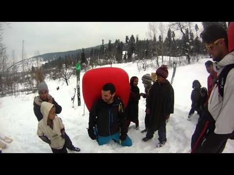 Pieps Airbags and the Kids in Drang Village, Gulmarg