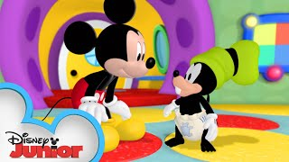 Goofy Turns Into A Baby 👶🏼| Mickey Mornings | Mickey Mouse Clubhouse | Disney Junior