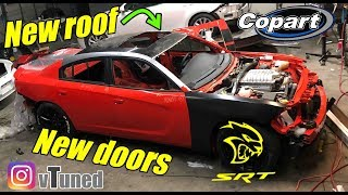 Rebuilding my wrecked charger hellcat part 5