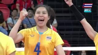 ไฮไลท์ วอลเลย์บอลหญิง รอบชิงฯ ไทย v เวียดนาม (เซทที่ 3) 9 ธ.ค. 2019