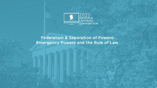 Click to play: Federalism & Separation of Powers: Emergency Powers and the Rule of Law