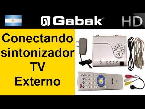 Como conectar una sintonizador de tv externa
