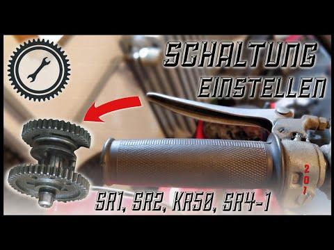 2 Gang Handschaltung einstellen - Schaltung einstellen SR2, SR1, KR50, SR4-1 Spatz Tutorial