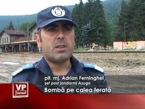 Bombă pe calea ferată