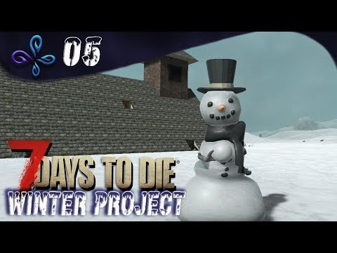 Le bonhomme de neige.... Winter Project sur 7 DAYS TO DIE [Fr] #05