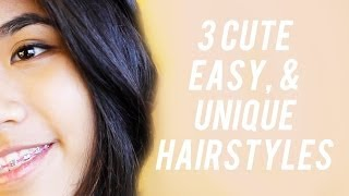 3 Easy, Cute, & Unique Hairstyles!